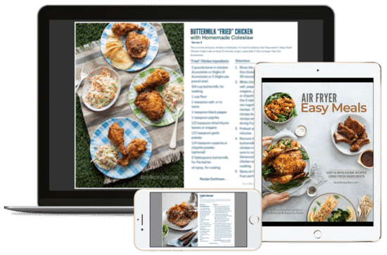 Easy Meals Ebook on computer, tablet, and phone