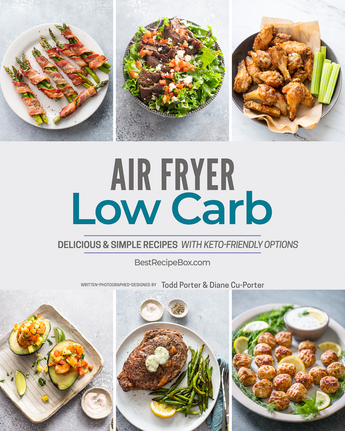 air fryer low carb cookbook cover