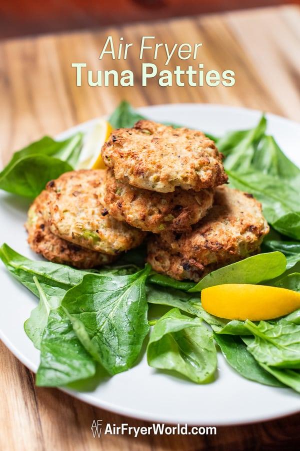 Air Fried Tuna Patties Recipe in Air Fryer on a plate