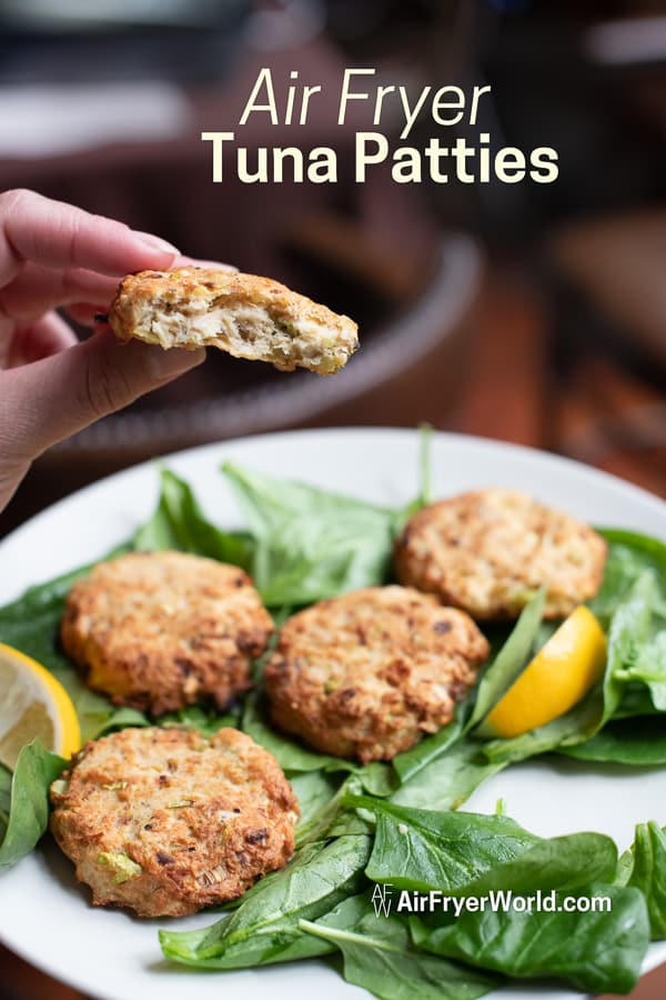 Air Fried Fish Cakes Recipe in Air Fryer on a plate