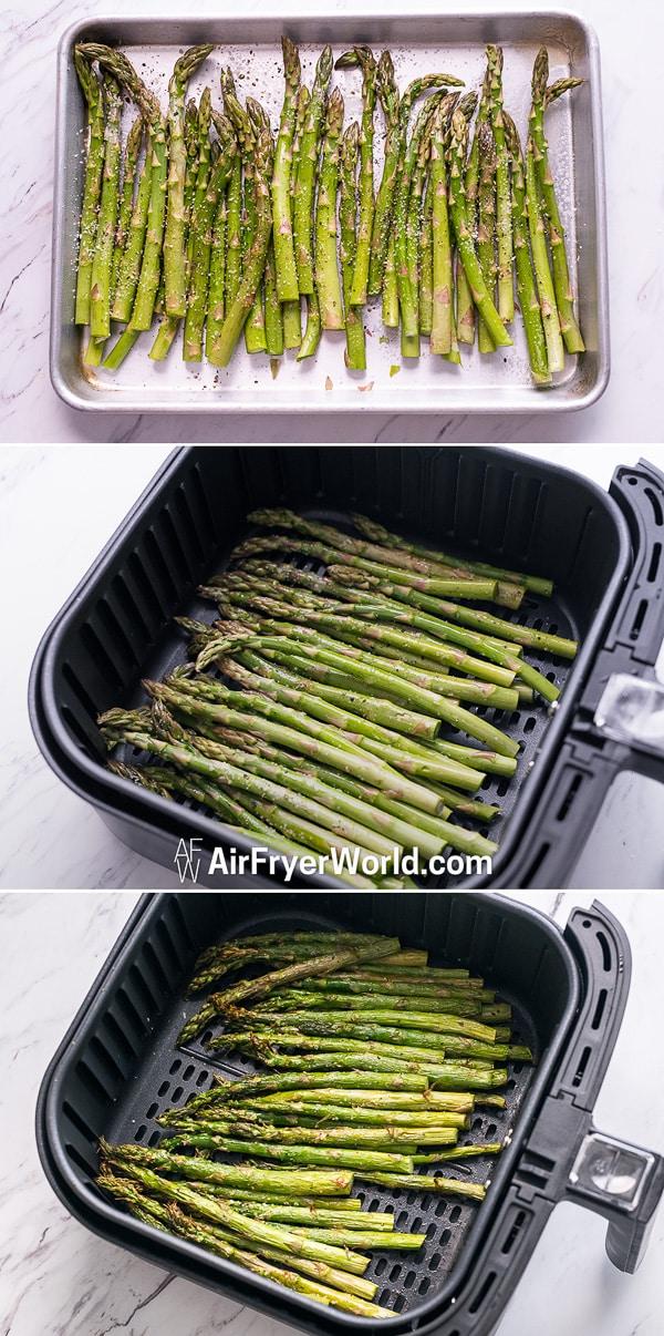 Air Fryer Asparagus step by step photos