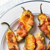 Air Fryer Jalapeño Poppers with Bacon