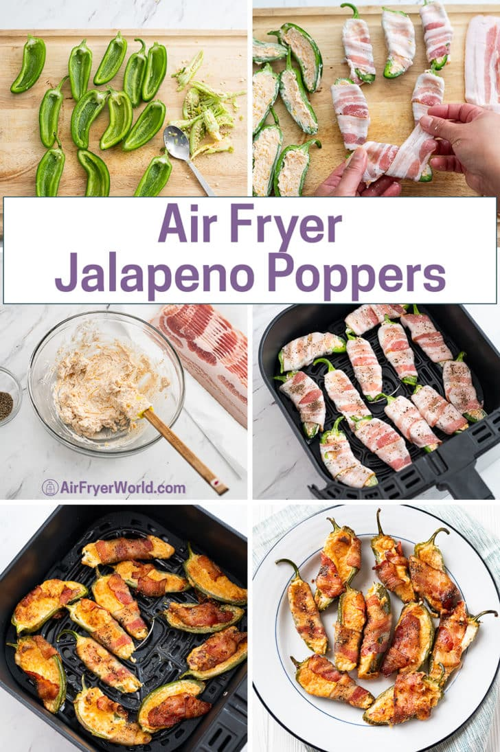 Air Fryer Bacon Jalapeno Poppers - AirFryerWorld