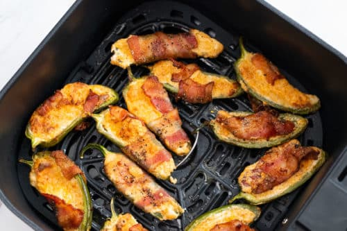 Air fried jalapeno poppers