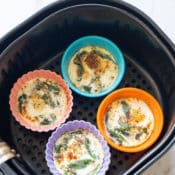 Air fried baked eggs recipe in air fryer | AirFryerWorld.com