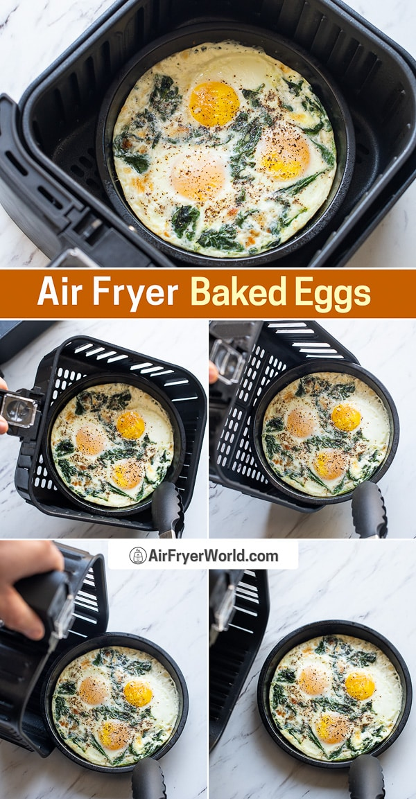 Eggs in basket and accessory pan
