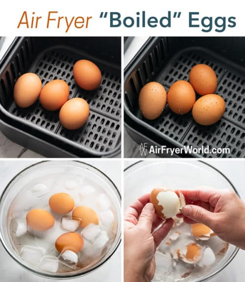 Easy Eggs in basket, bowl and peeled by hand