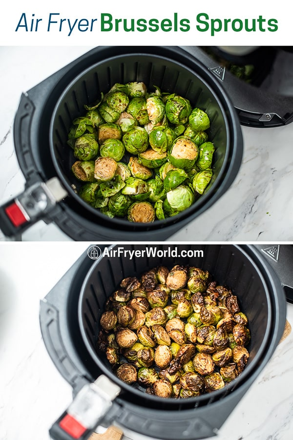Healthy Air Fried Brussels Sprouts Recipe in the Air Fryer step by step photos