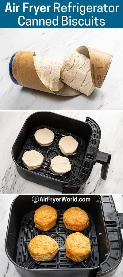 Air Fryer Canned Biscuits or Refrigerated Biscuit Dough Air Fried recipe step by step photos