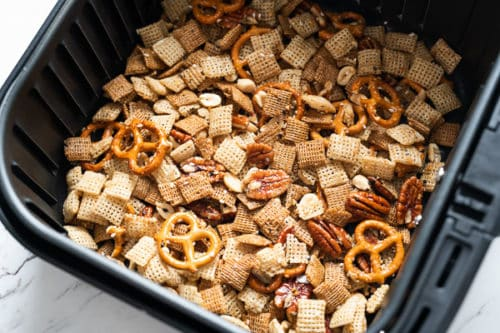 Air fried chex party snack mix
