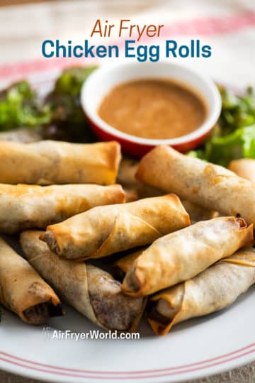 egg rolls on a plate
