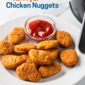 Air Fried Frozen Chicken Nuggets in the Air Fryer | AirFryerWorld.com