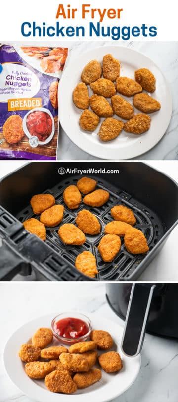 Different brands of breaded chicken