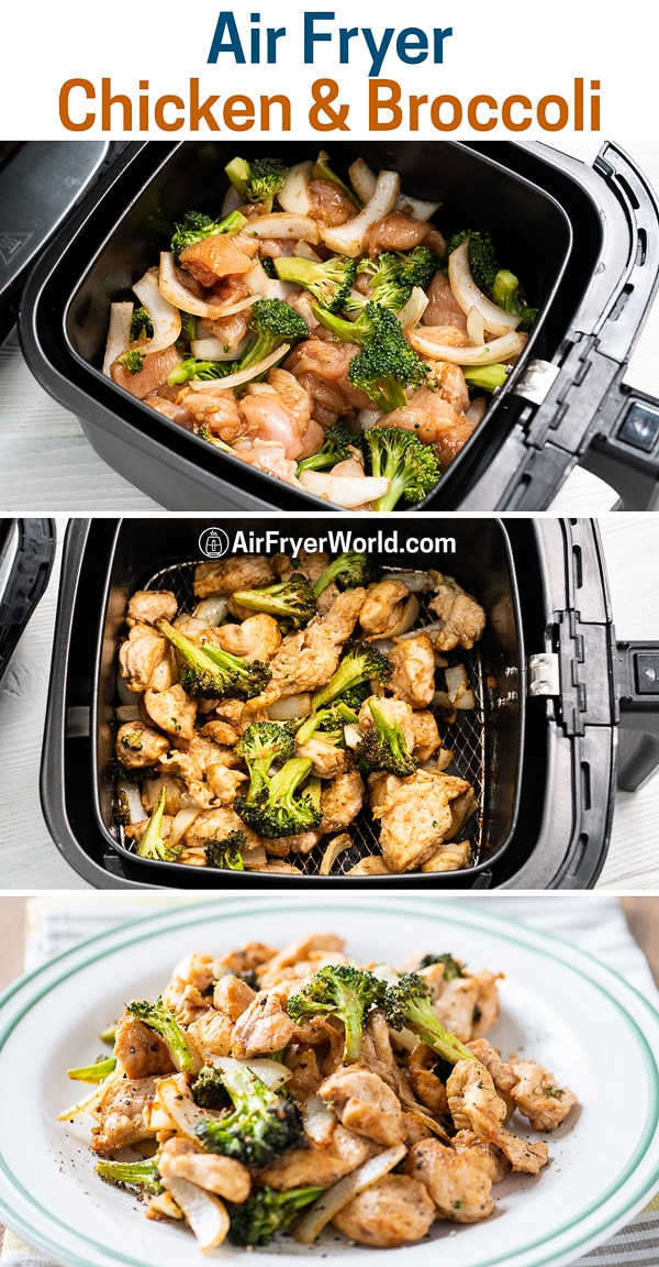 Recipe for Air Fried Chicken and Broccoli in Air Fryer | AirFryerWorld.com