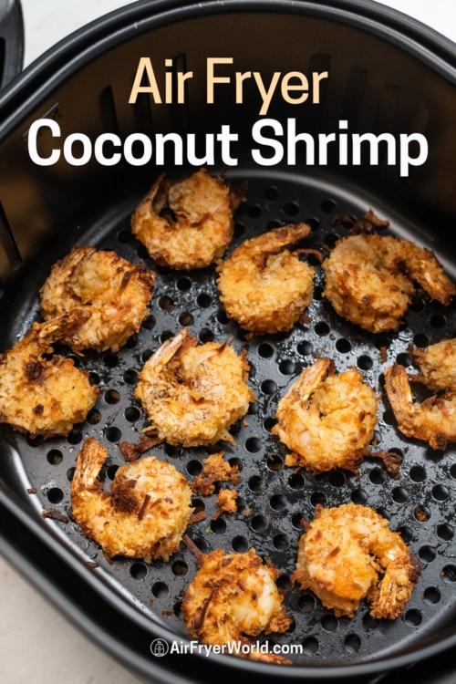 Air Fryer Coconut Shrimp in bakset