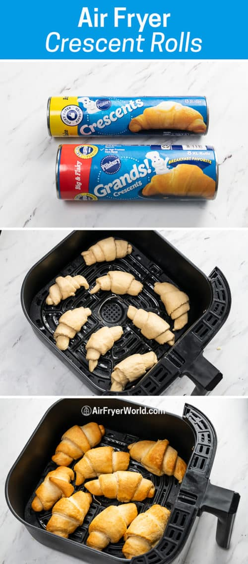 Air Fryer Crescent Rolls (Canned Refrigerated) Air Fried Croissants step by step photos