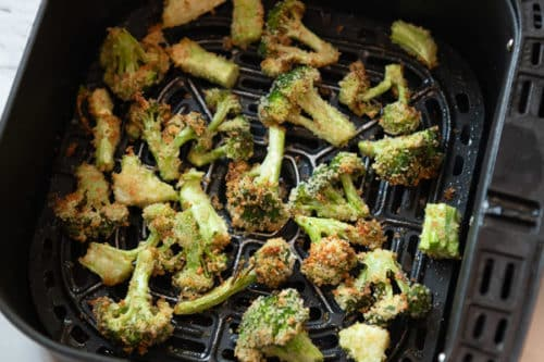 Finished broccoli in air fryer