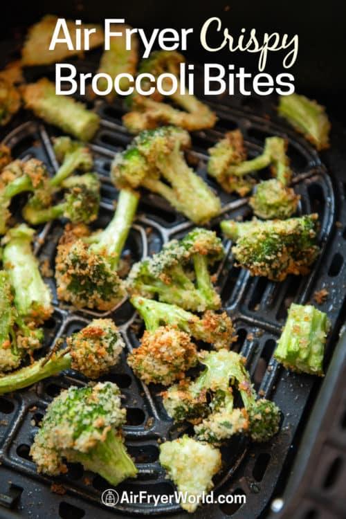 Air Fryer Broccoli Bites Recipe in a basket