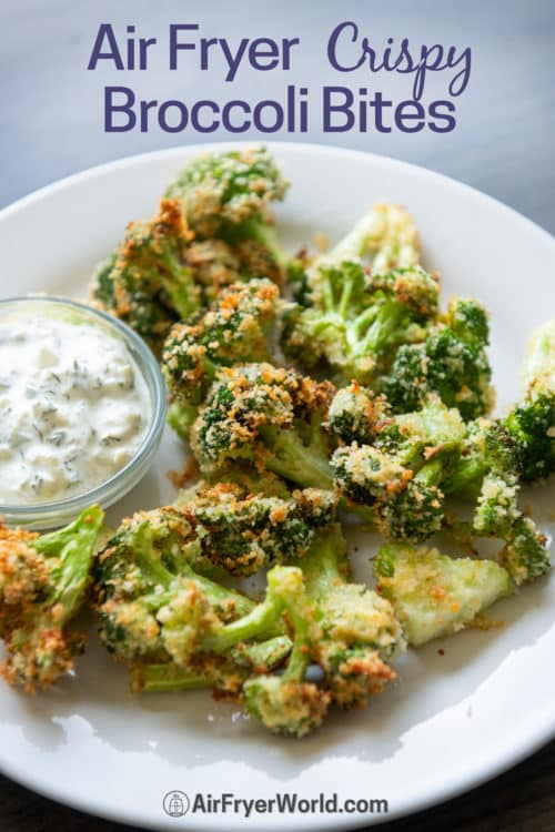 Air Fryer Broccoli Bites Recipe on a plate