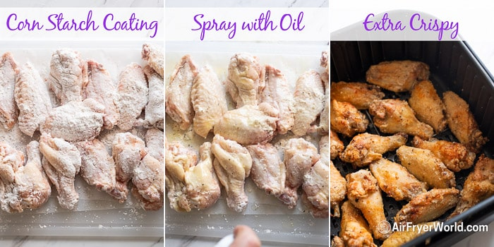 how to make crispy wings with corn starch coating