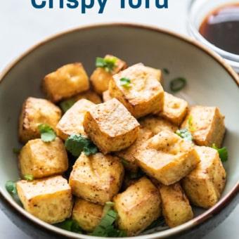 Air Fryer Crispy Tofu in bowl