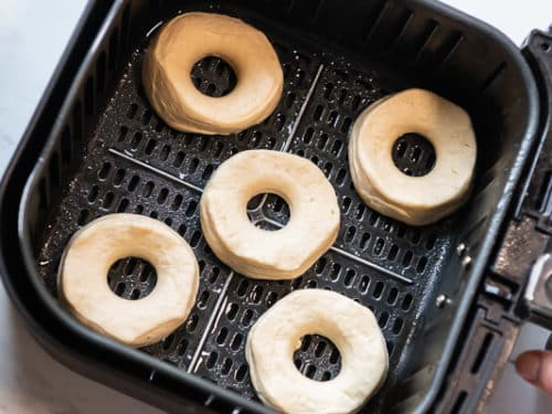 Arranging Donuts in Air Fryer