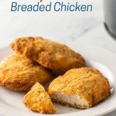 Air Fryer Frozen Breaded Chicken Breast