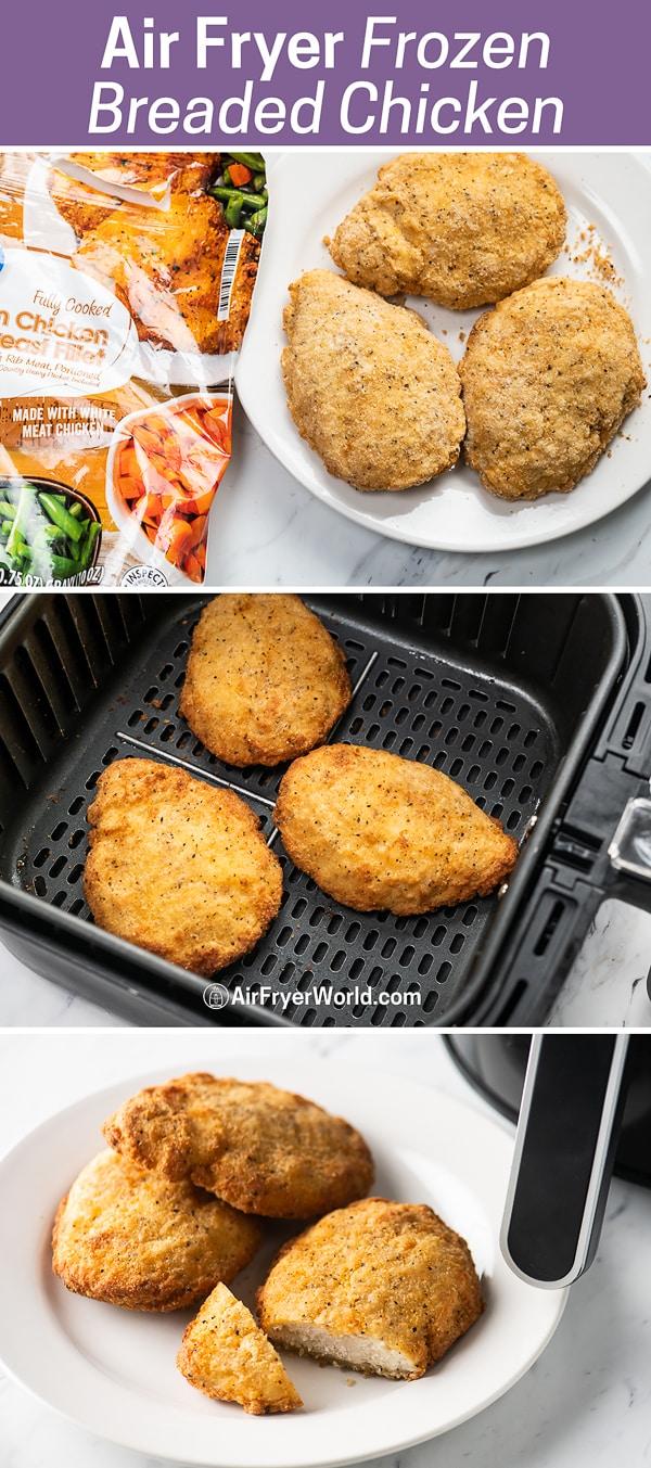 Air Fryer Frozen Breaded Chicken Breasts | AirFryerWorld.com