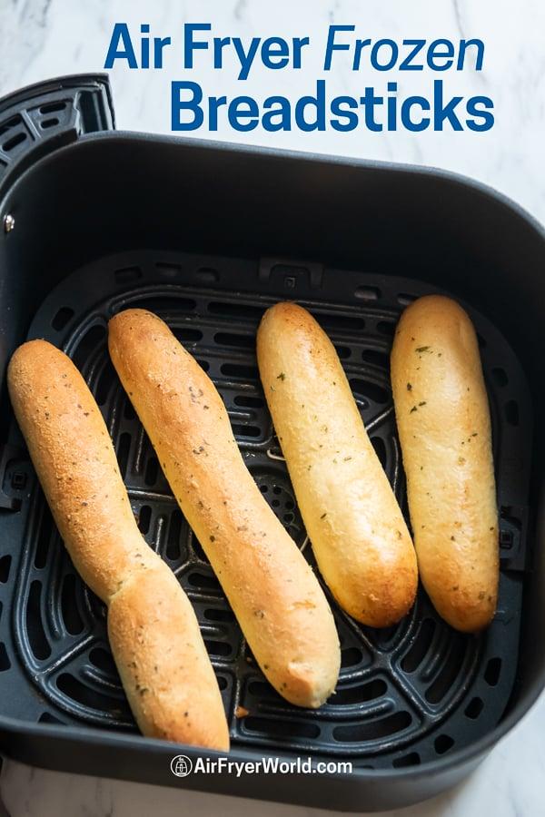 Breadstick in air fryer basket
