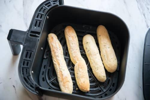 Placing Frozen Breadstick in Basket