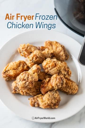 crispy air fryer chicken wings on a plate