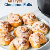 Air Fried Cinnamon Rolls in the Air Fryer | AirFryerWorld.com