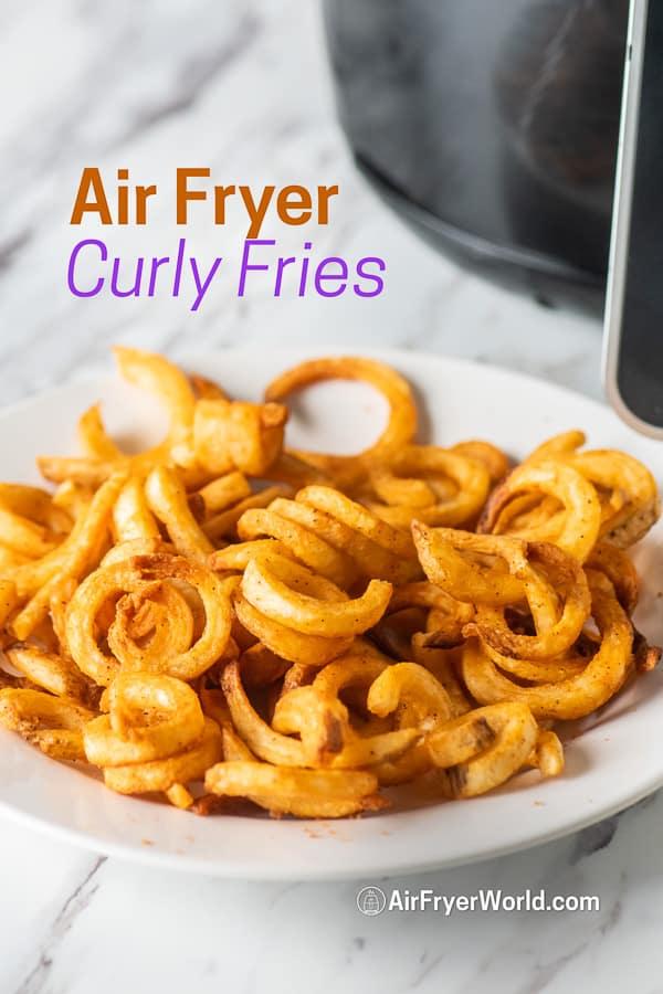 Easy Air Fryer Frozen Curly Fries In Air Fryer Time Temp Air Fryer World