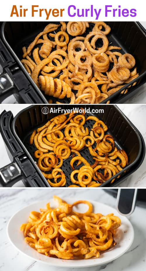 step by step cooking curly fries in the air fryer