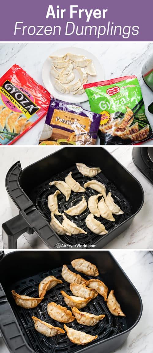 Air Fryer Frozen Dumpling, Potstickers, Gyoza, Wonton Recipe step by step photos