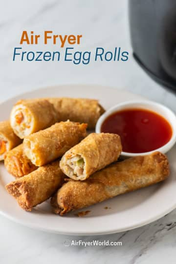 crispy spring rolls on a plate