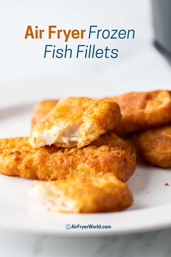 Air Fryer Frozen Fish Fillet or Fish Patty on a plate