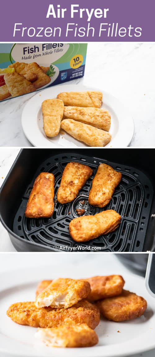 Air Fryer Frozen Fish Fillet or Fish Patty step by step photos