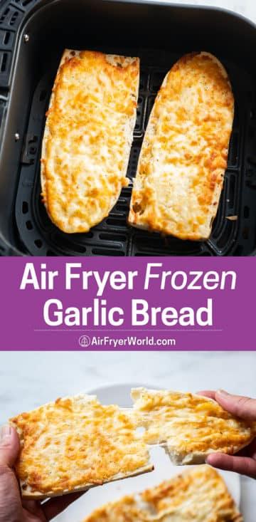 Air Fryer Frozen Garlic Bread Recipe that's Air Fried step by step photos