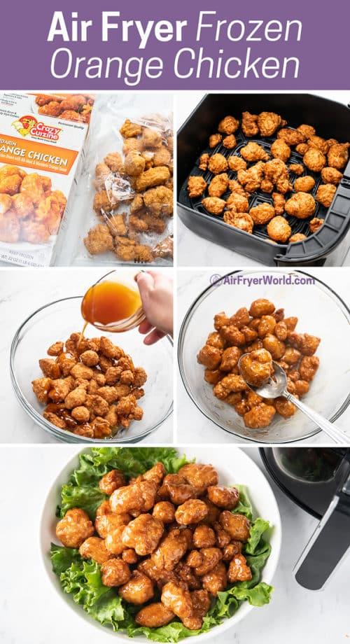 step by step making orange chicken in an air fryer