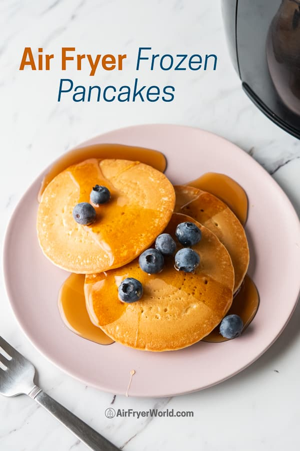Air Fryer Frozen Pancakes or Hot Cakes in the Air Fryer on a plate