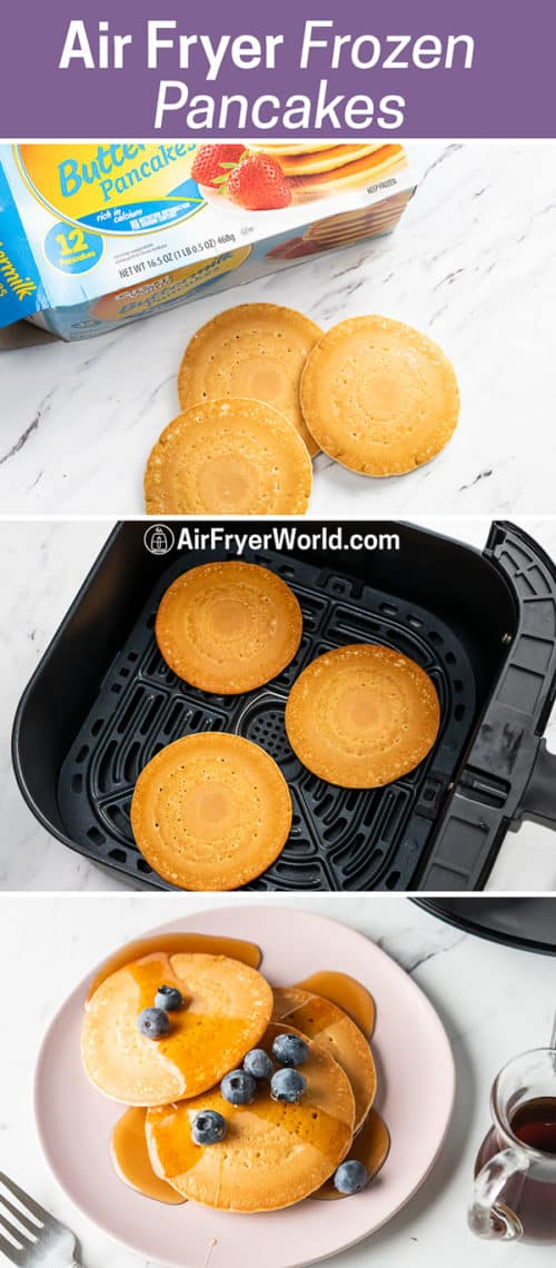 Air Fryer Frozen Pancakes or Hot Cakes in the Air Fryer step by step photos