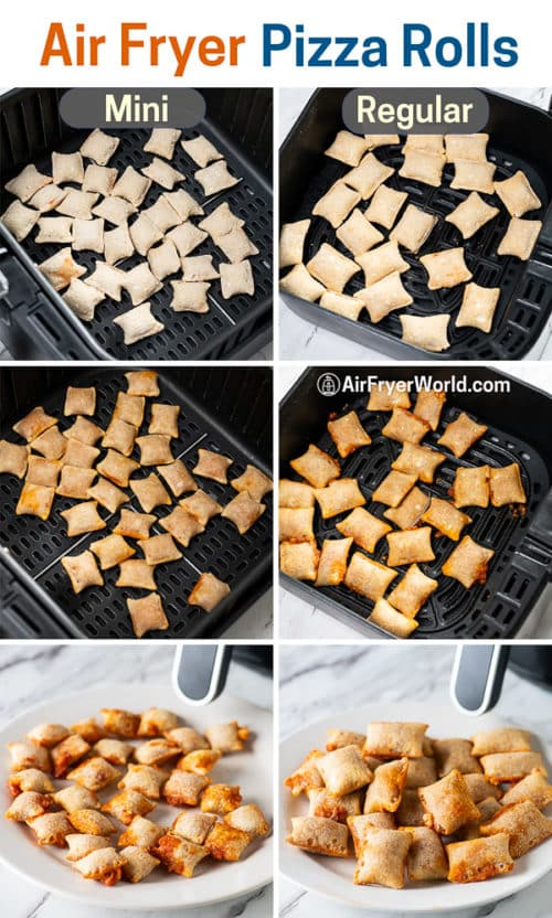 step by step making pizza rolls in the air fryer