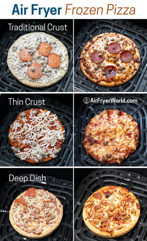 step by step photos cooking different crust pizzas