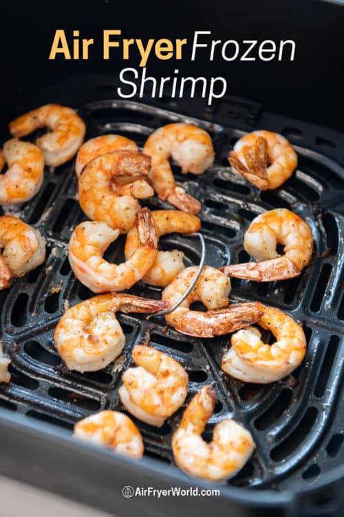 Air Fryer Frozen Shrimp Recipe in a basket
