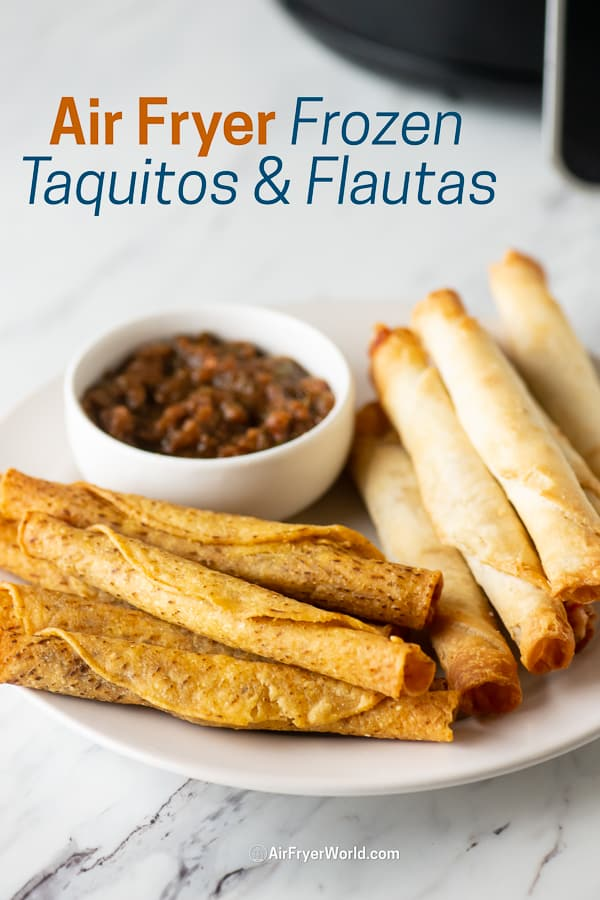 Taquitos and Flautas on a plate