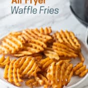 Air Fried Frozen Waffle Fries Recipe in Air Fryer | AirFryerWorld.com