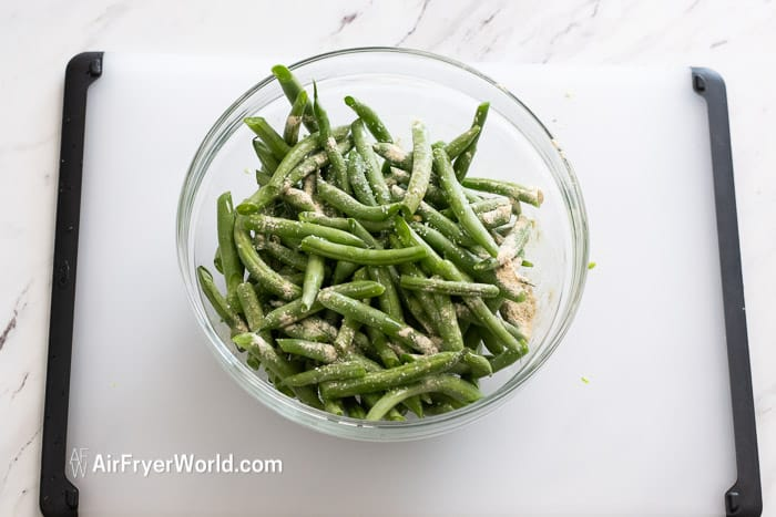 Air Fried Green Beans Recipe in Air Fryer step by step | AirFryerWorld.com