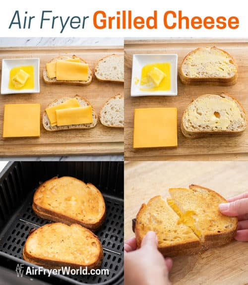 Step boy Step Photos How to Cook Air Fried Grilled Cheese Recipe in Air Fryer