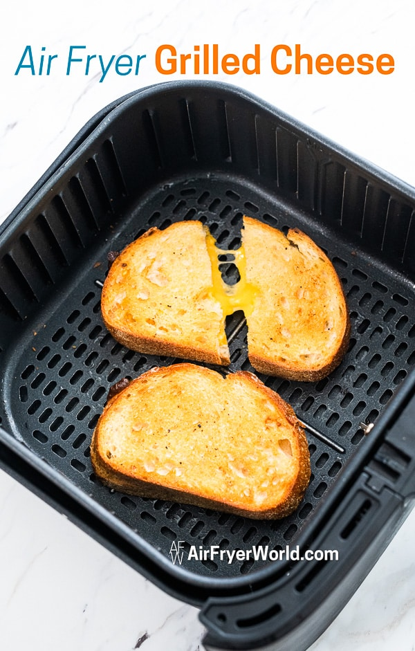 How to Cook Air Fried Grilled Cheese Recipe in Air Fryer in basket